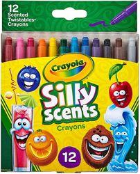 Восковые карандаши с запахом фруктов Crayola Silly Крайола оригинал