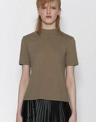 Базовые женские футболки Zara Испания разные цвета