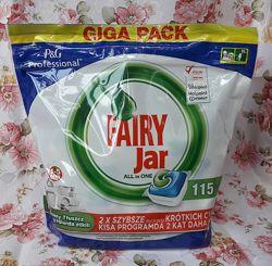 Капсулы для посудомойки Fairy Jar All in 1 -115 шт. АКЦИЯ