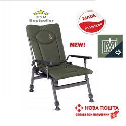 Кресло карповое раскладное Elektrostatyk Cuzo F5R с новыми подлокотниками