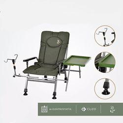 Кресло раскладное для рыбалки F5R Elektrostatyk Cuzo NEW подлокотники