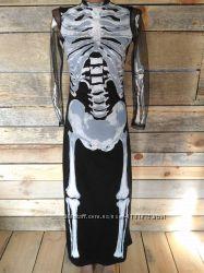 Очень крутое платье на хэллоуин XS S скелет