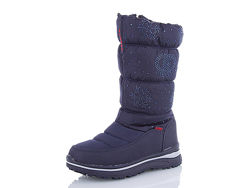Зимние дутики Alaska для девочек в наличии 31-37 размеры серый и синий