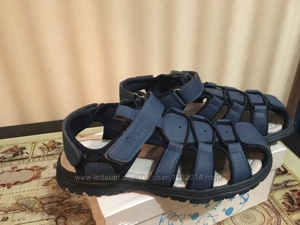 Качественные босоножки Tom. m в наличии 34, 35, 36, 37 размеры синий