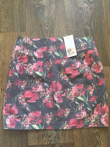 Новая котоновая юбка бочонок размер М супер сидит