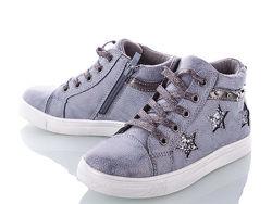 Мега стильные демисезонные ботинки кеды С. Луч на девочку 31-36 размеры