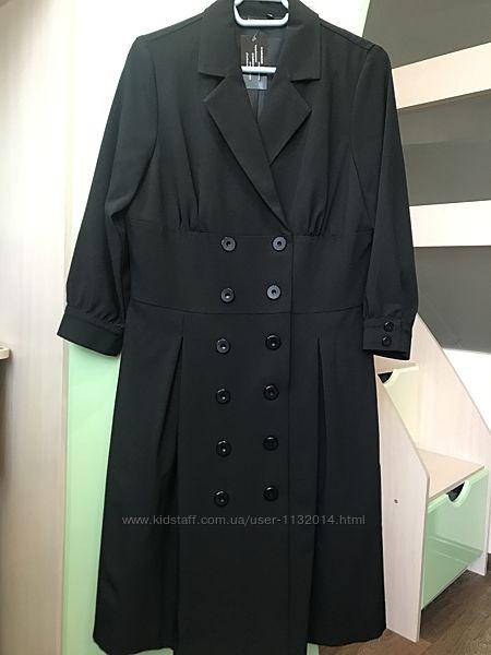 Удлиненный приталенный плащ пиджак Bodyflirt 40 46 размер новый
