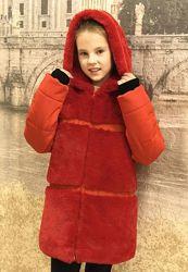 Стильное зимнее пальто с водонепроницаемой и водоотталкивающей плащевки,