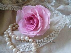 Роза в прическу, на резинке, гребне, шпильке