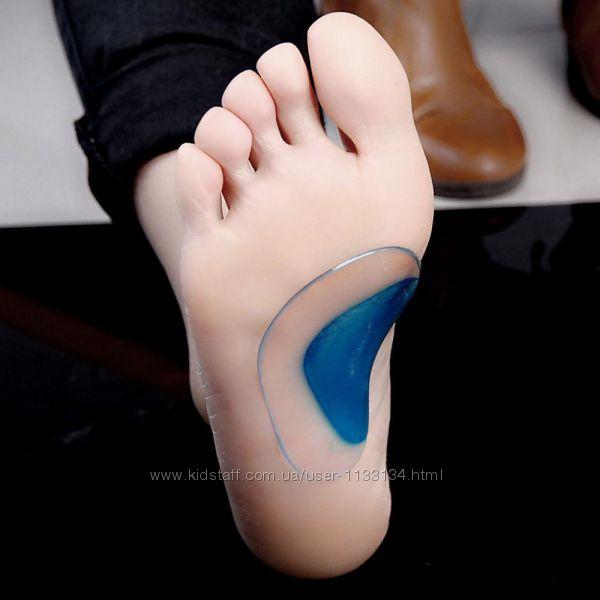 Пара ортопедических стелек для поддержки свода стопы