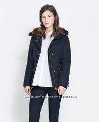 Пуховик, куртка, Zara basic зима
