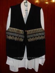 костюм пиджак, жилет, рубашка нарядный классический