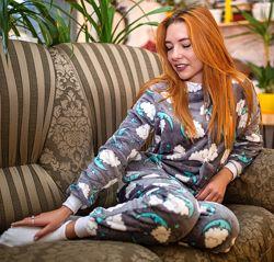 Махровая пижама комбинезон Сладкие Сны 42-54