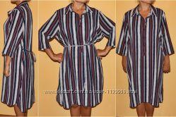 платье-рубаха в полоску 48-50 р-р