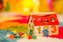 Деревянная игра Дом игрушка детская развивающая логику в коробке