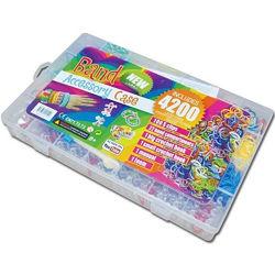 Резинки для плетения браслетов 4200 rainbow loom bands детский в пластиково