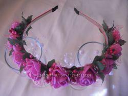 Ободок из роз латекса