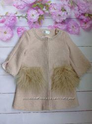 Шикарное пальто на девочку 8-10 лет