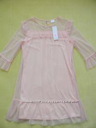 нежное фатиновое платье F&F на 13-14 лет.