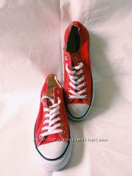 Красные низкие кеды Converse оригинал рр 42