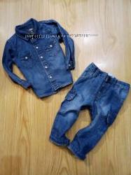 легкие джинсы для мальчика на 1-2 года