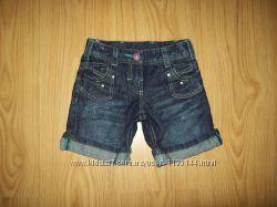 джинсовые шортики Matalan, Next для девочки на 3 года