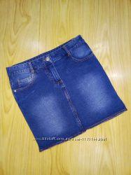 фирменные джинсовые юбки на 9-10 лет