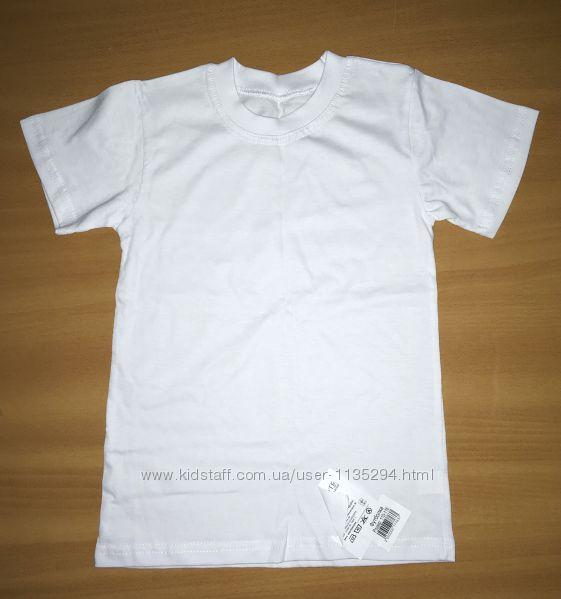 Новая  белая футболка. 5, 6 лет.
