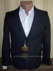 Пиджак школьный приталенный для мальчиков 128-176 Украина