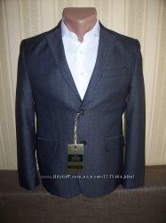 Пиджак школьный приталенный для мальчиков 128, 152, 158, 170 Украина