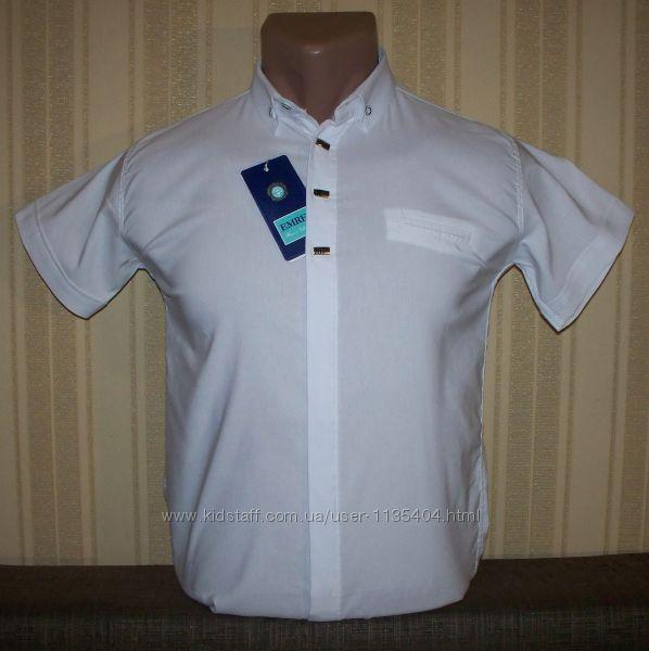 Рубашка шведка приталенная для мальчиков 158 Турция