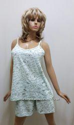 Пижама майка с шортами хлопок, большие размеры от 52 до 58,