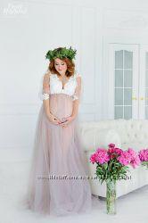 Прокат будуарных платьев халатиков для беременных для фотосессии, пеньюары