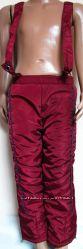 Качественные утепленные брюки, штаны, полукомбинезон на синтепоне р. 98-104