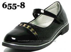 Школьные туфли, туфельки, балетки W. Nico, кожаная стелька, супинатор, 33-3