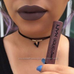 Вельветовая помада NYX Liquid Suede cream lipstick США, бархатная помада