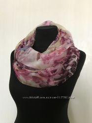 Роскошный легкий женский хомут шарф