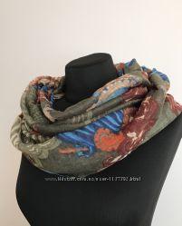 Осенний шарф хомут снуд легкий. Супер цена