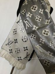 Супер модный женский шарф с люрексом LV