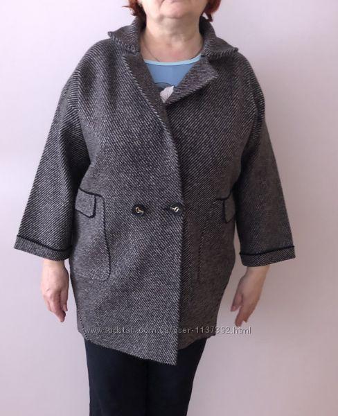 Женское пальто кардиган большого размера