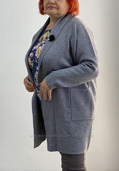 Женский кардиган пальто баталы