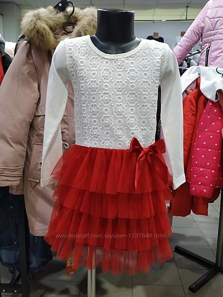 Платье нарядное с фатином для девочки Турция р. 122-140