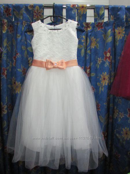 Платье нарядное с фатином 134-140