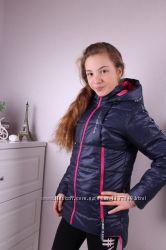 Курточки демисезонные для девочек розовая и синяя