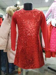 Красивые нарядные платья Woorage красные и синие