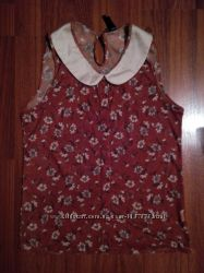 Летняя блуза безрукавка с воротником АТМ