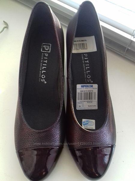 Туфли кожаные 39,40