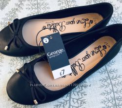 Туфли балетки на девочку в школу George