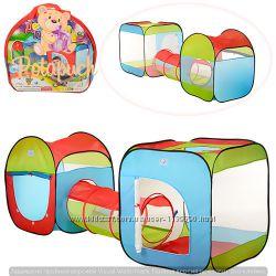 Детская игровая палатка 2 в 1 с переходом М 2503