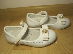 Святкові туфлі балетки на дівчинку білі Cонце Sb81-2 р. 27-31 туфли, балетк